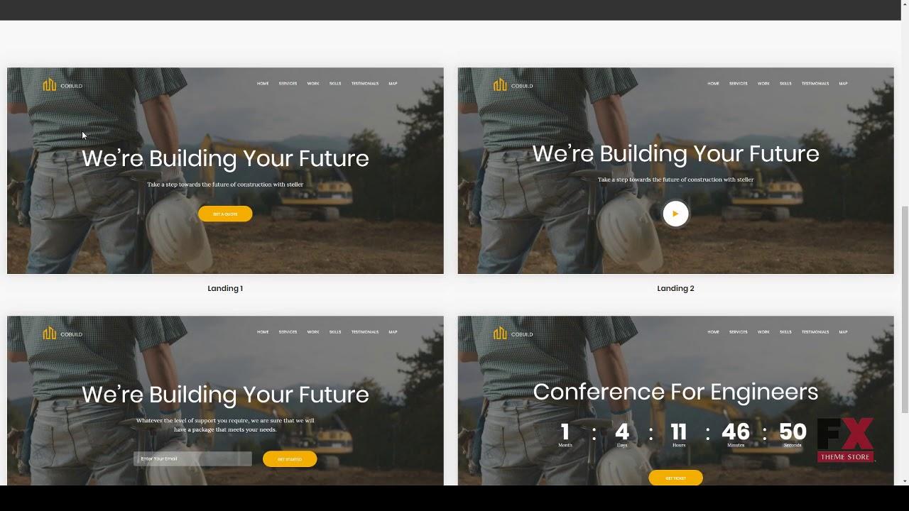 Cobuild - Construction Landing Page Html Template Dezi Lynton - YouTube