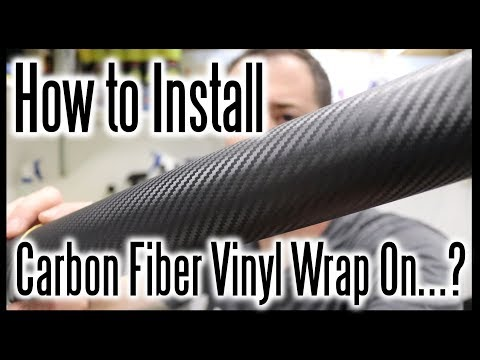 How To Install A Carbon Fiber Vinyl Wrap On...? #HelpfulDetailingVideos