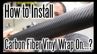 How To Install A Carbon Fiber Vinyl Wrap On...? #HelpfulDetailingVideos