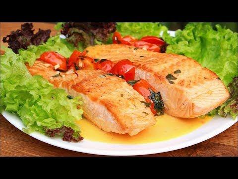 ТАК ВЫ РЫБУ ТОЧНО ЕЩЁ НЕ ГОТОВИЛИ! Филе лосося на сковороде с обалденным соусом!!!