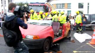 Crash Scene Re-enactment - Castlebar Fire Service