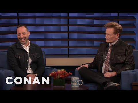 Andy Made Tony Hale Feel Better About Bombing On CONAN - CONAN on TBS