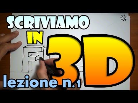 Disegno come disegnare in 3d tutorial bambini for Disegno 3d free