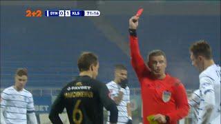 Динамо Колос 0 1 Арбитр после просмотра VAR отменил желтую карточку Максименко и дал красную