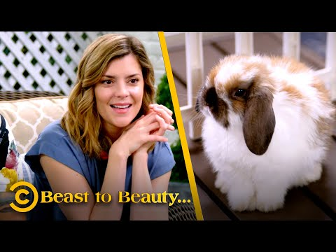 Separating a Woman from Her Oppressively Cute Rabbit (ft. Grace Helbig) - Beast to Beauty