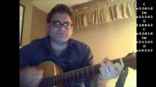 """How to play """"Diana"""" by Paul Anka on acoustic guitar (Beginner Song)"""