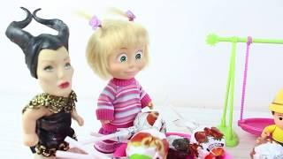 Küçük Cadı Ve Masha Topları Şeker Yapıyor Eğlenceli sihir Oyunları