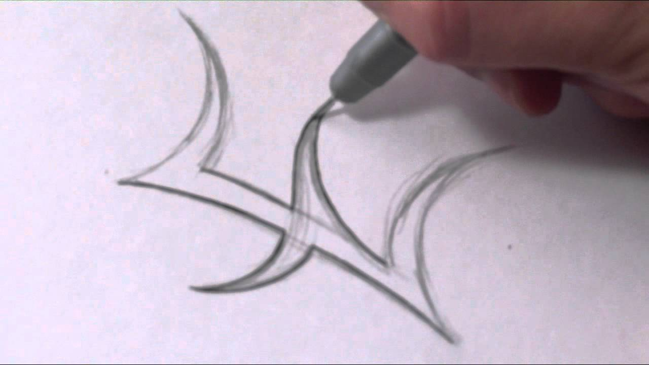how to draw a simple tribal letter e youtube