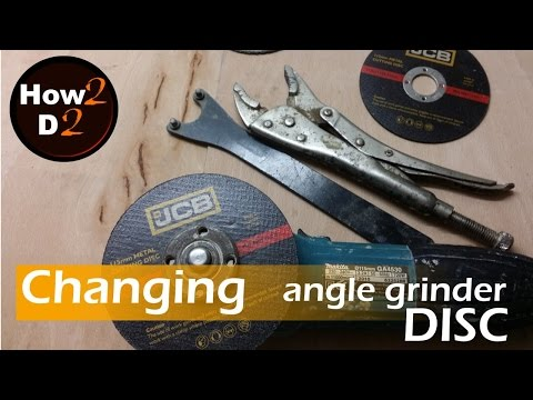Changing Disc . How To Change Replace Disc Blade In Makita Angle Grinder