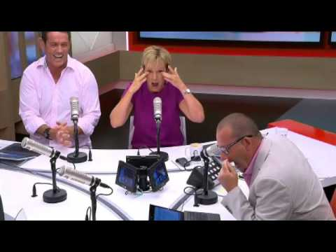 Hilary Barry cracks up during the news