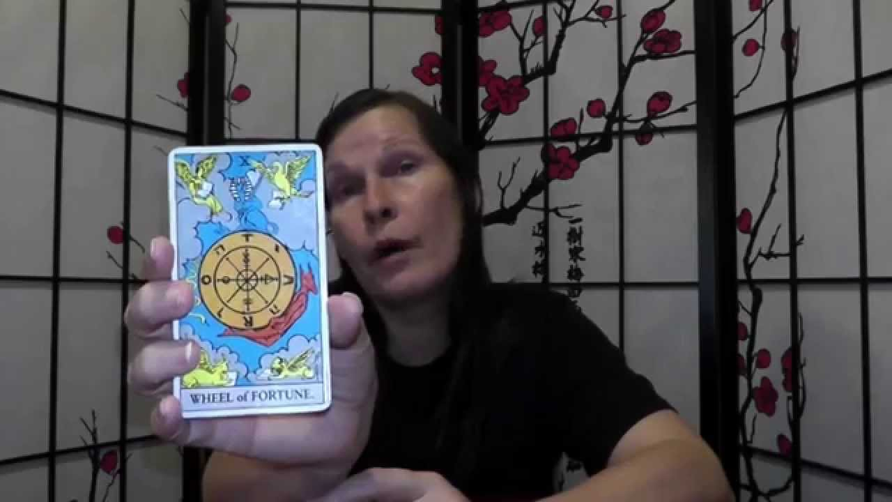 The Chariot & Wheel Of Fortune Tarot Card lessons upright and reversed  meaning is given