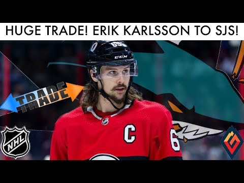 ERIK KARLSSON To SAN JOSE SHARKS Trade Discussion!