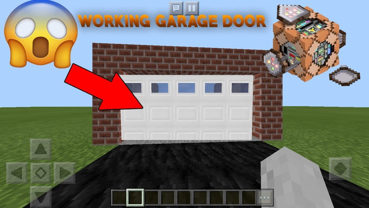 Minecraft Pe How To Make A Working Garage Door With Command Blocks