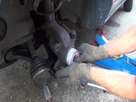 Cambio del rodamiento de rueda en lugar sin quitar el portabuje