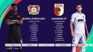 Bayer Leverkusen Vs Augsburg - Bundesliga 2020/21 Season - Full Match & Gameplay - PES 2021