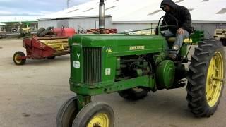 JOHN DEERE 50 PARTS TRACTOR starter and exhaust