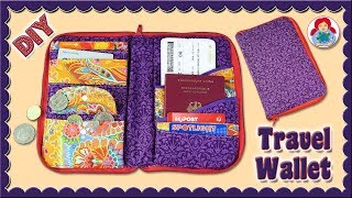 DIY | Zip Around Travel Wallet/ Travel Document Organizer • Sami Dolls Tutorials