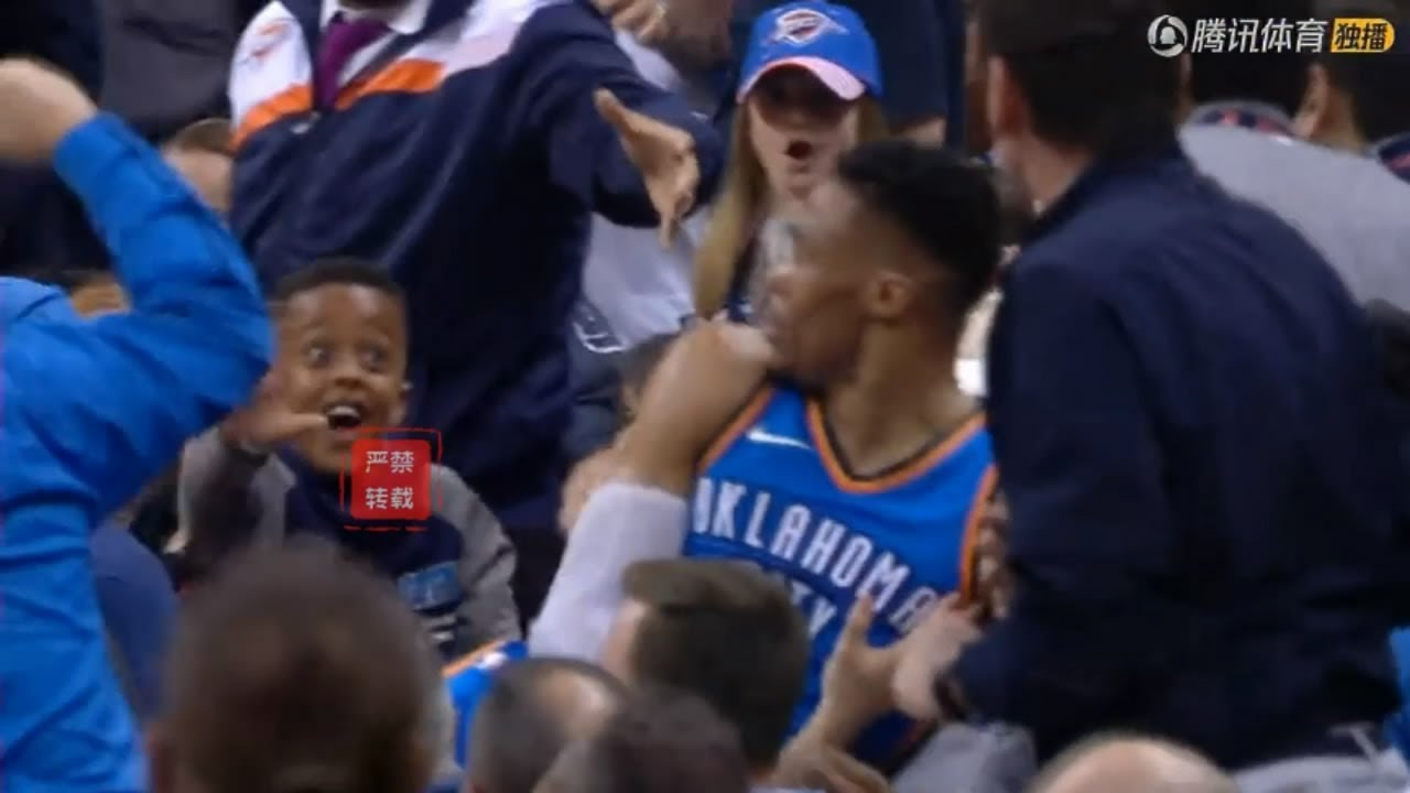Little Thunder Fan Wishes Russell Westbrook Could Give Him A High Five!