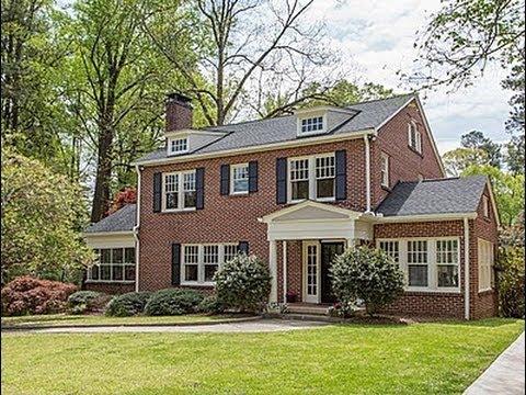 Beautiful Druid Hills Colonial Home at 1401 Harvard Rd NE, Atlanta, GA 30306