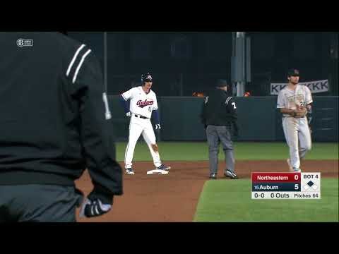 Auburn Baseball vs Northeastern Game 1 Highlights