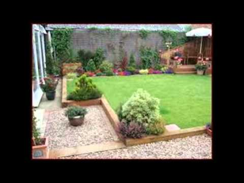 Garden Ideas With Sleepers - YouTube