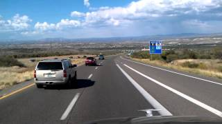 6% Downhill Grade on Interstate 17 North near Camp Verde in Arizona