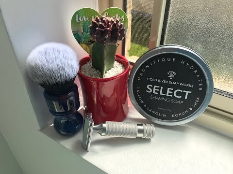 "Cold River Soapworks ""Citrus"" using the  Razorock Hawk!"