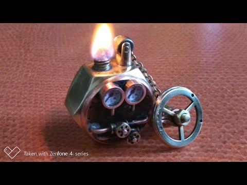 Steampunk. Зажигалка бенз.из гайки М20 (процесс изготовления).