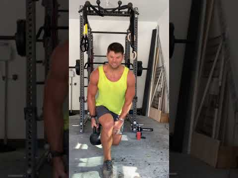 Bulgarian Split Squat With Kettlebell Crossover