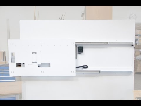 Monlines Elektrische Tv Wandhalterung Sonderanfertigung Youtube