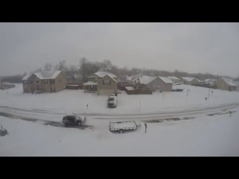 Snow Time Laps / 8hr of snow Clarksville Tn Jan16