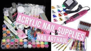 Acrylic Nail Supplies & Nail Art  Haul!! | Doing MY Own Nails at Home!