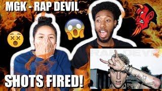 MACHINE GUN KELLY - RAP DEVIL (EMINEM DISS)   MUSIC VIDEO REACTION