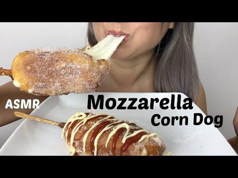 MOZZARELLA CORN DOG | ASMR *NO TALKING | N.E LETS EAT