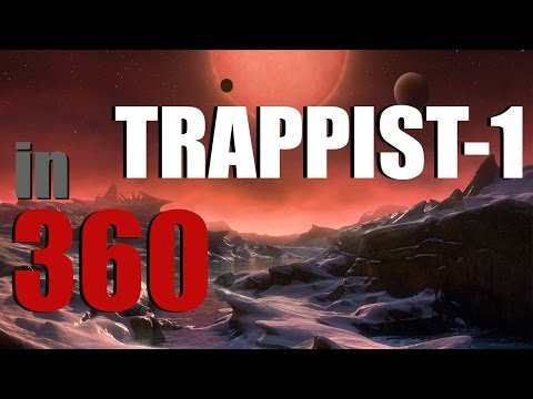 TRAPPIST-1 Star and Planets in 360 - NASA 2017 Discovery