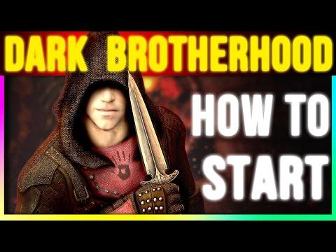 Skyrim Special Edition: How To Start Dark Brotherhood (Walkthrough Quest Remastered Gameplay)