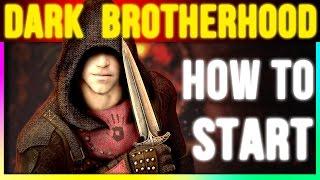 Skyrim Special Edition: H๐w To Start Dark Brotherhood (Walkthrough Quest Remastered Gameplay)