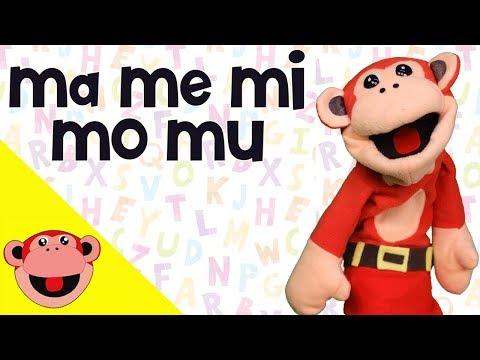 Sílabas ma me mi mo mu | El Mono Silabo | Videos Infantiles | Educación para Niños en Español