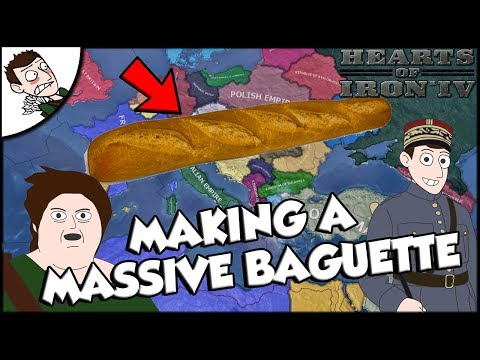 Trying to Make a Massive Baguette as France on Hearts of Iron 4 hoi4 Mod