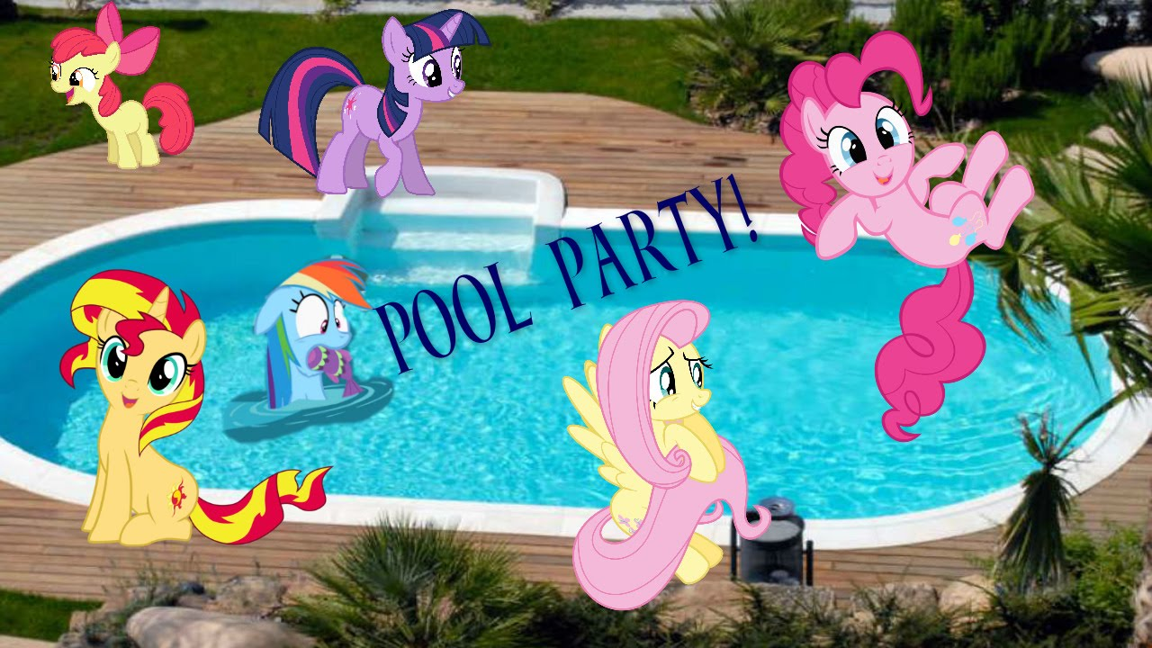mlp pool party festa in piscina speciale 300 iscritti youtube