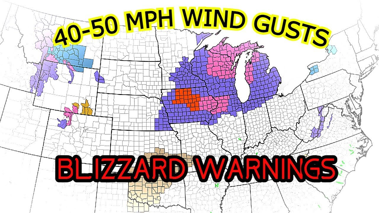 Blizzard Warnings in Effect for Midwest as Winter Storm, Heavy Snow Pushes In