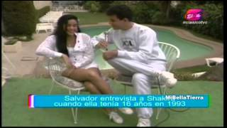 Shakira cuando tenía 16 años - Entrevistada por Salvador Nasralla en 1993.