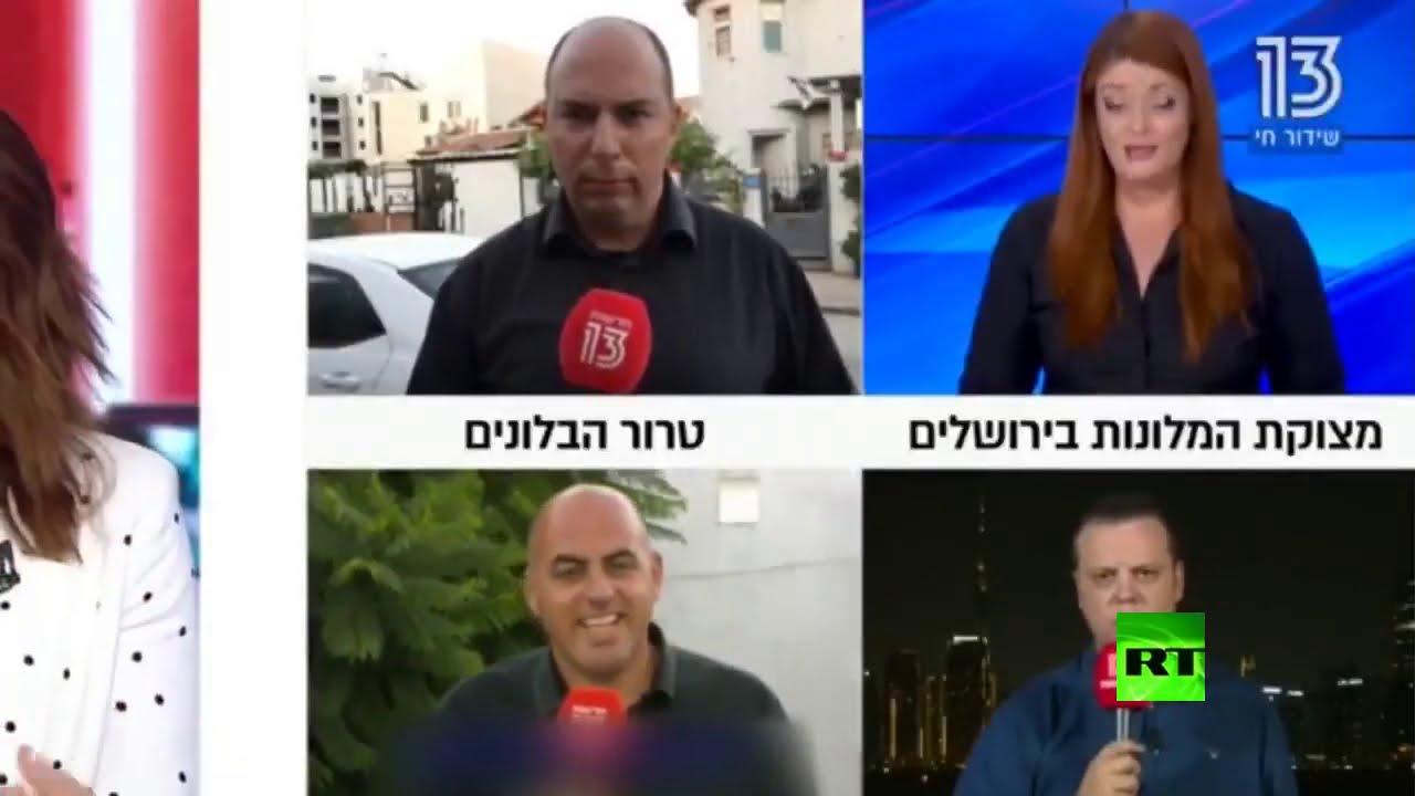 لحظة سقوط مراسل قناة إسرائيلية مغشيا عليه خلال بث مباشر من دبي