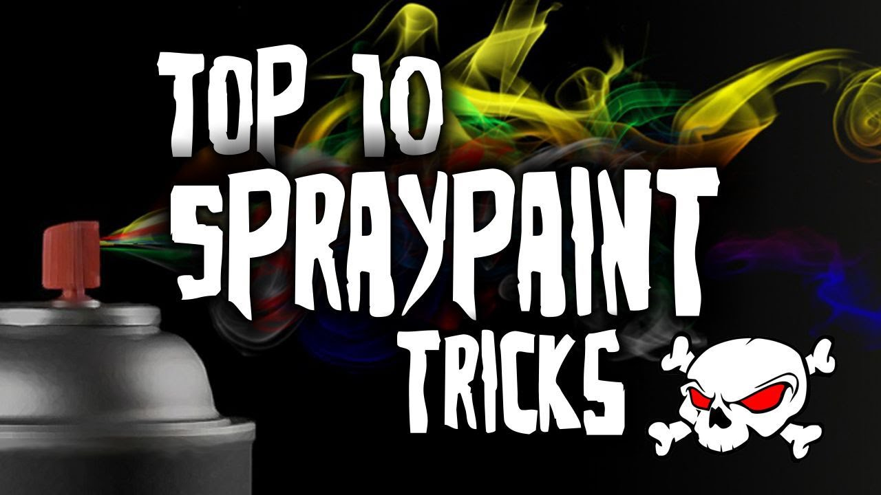 Spray Paint Design Ideas Part - 41: Top 10 Spray Paint Tricks HD - YouTube