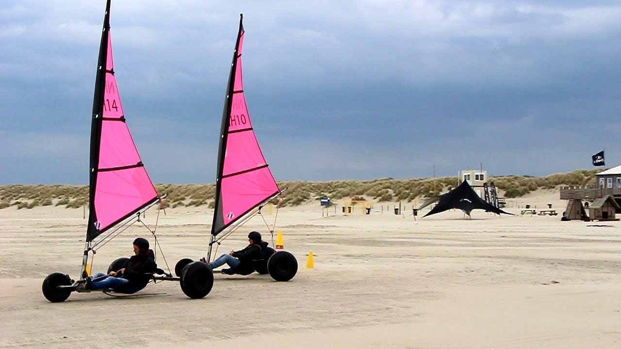land sailing  holland blokarting youtube