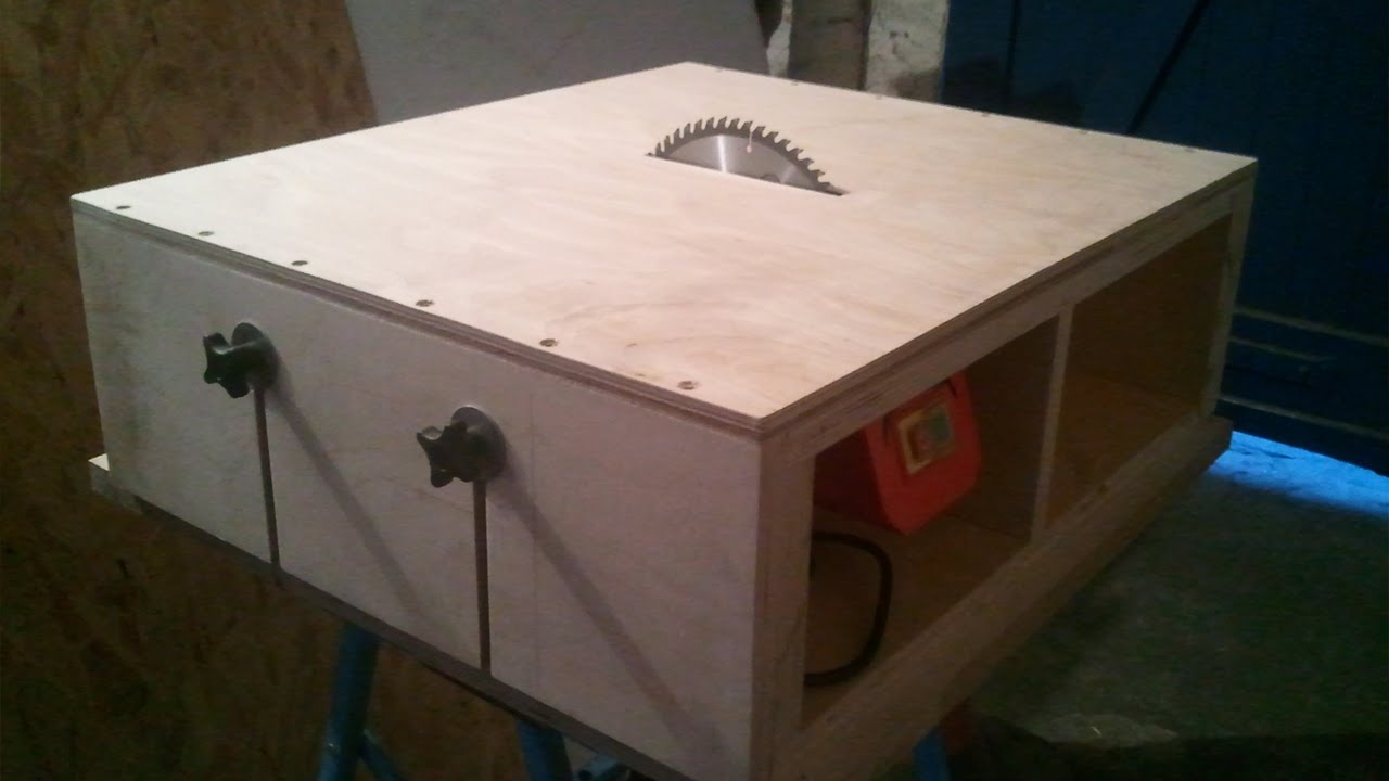 Homemade Table Saw Part 1 Diy Motor Mount Amp Adjustable