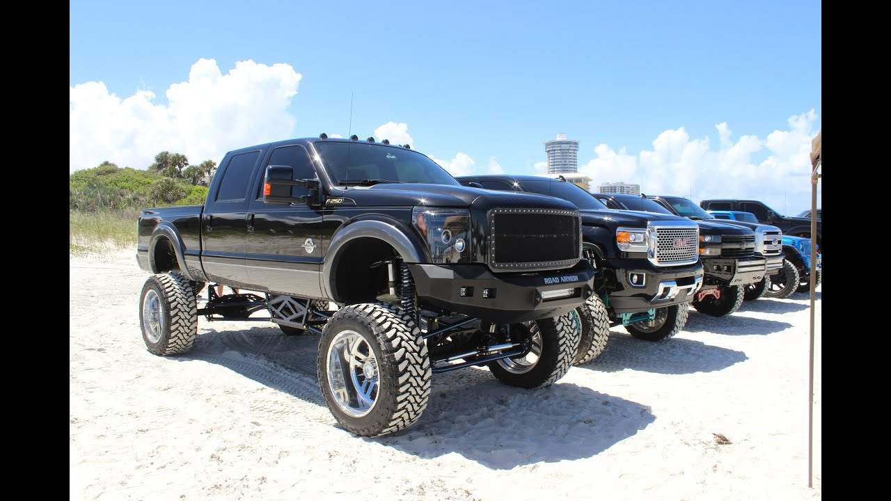 Lifted Ford Flex >> DAYTONA TRUCK MEET 2015 (CUSTOM OFFSETS) (2500 TRUCKS) - YouTube