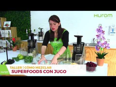Cómo mezclar super foods con tus jugos hechos con Hurom