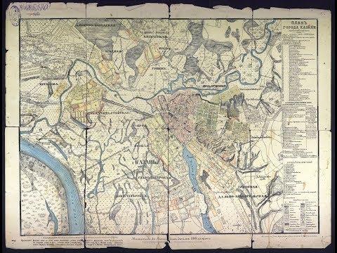 Карта, Казань 1886 год, Maps Kazan 1886