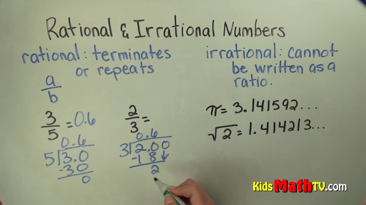 Differentiating Between Rational and Irrational Numbers 8th grade - YouTube [ 720 x 1280 Pixel ]